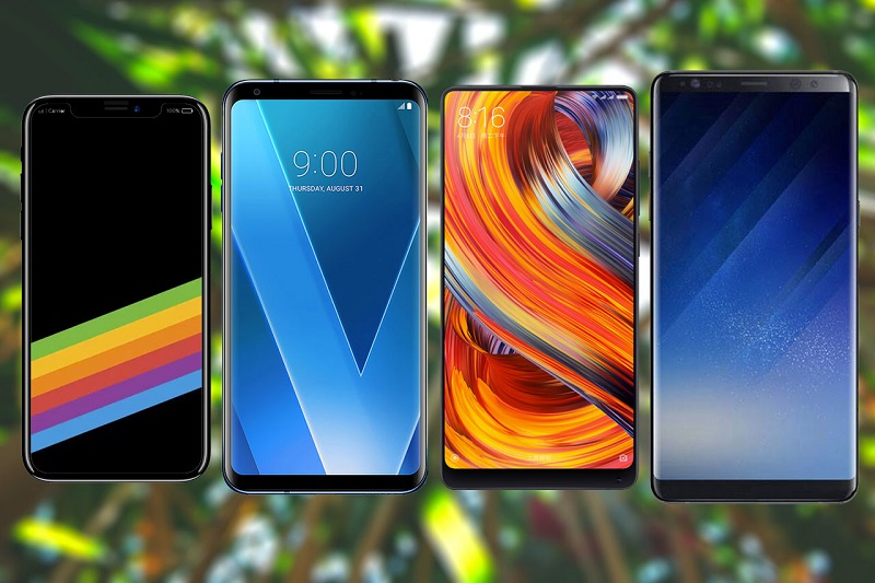 iPhone X vs Samsung Note 8, Mi Mix 2 and LG V30