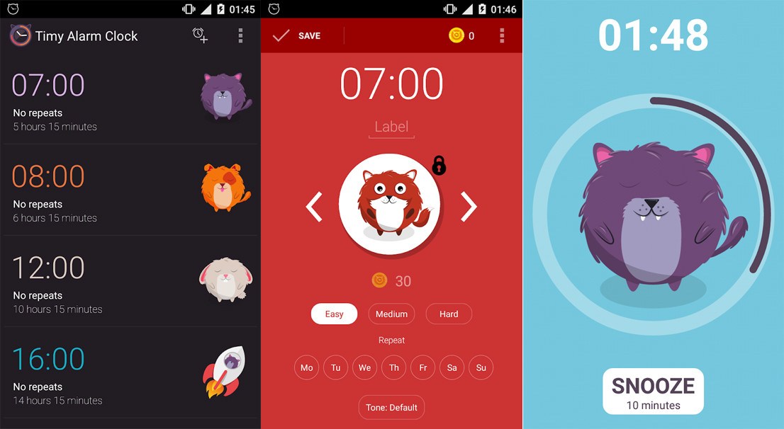 Android applications to wake up