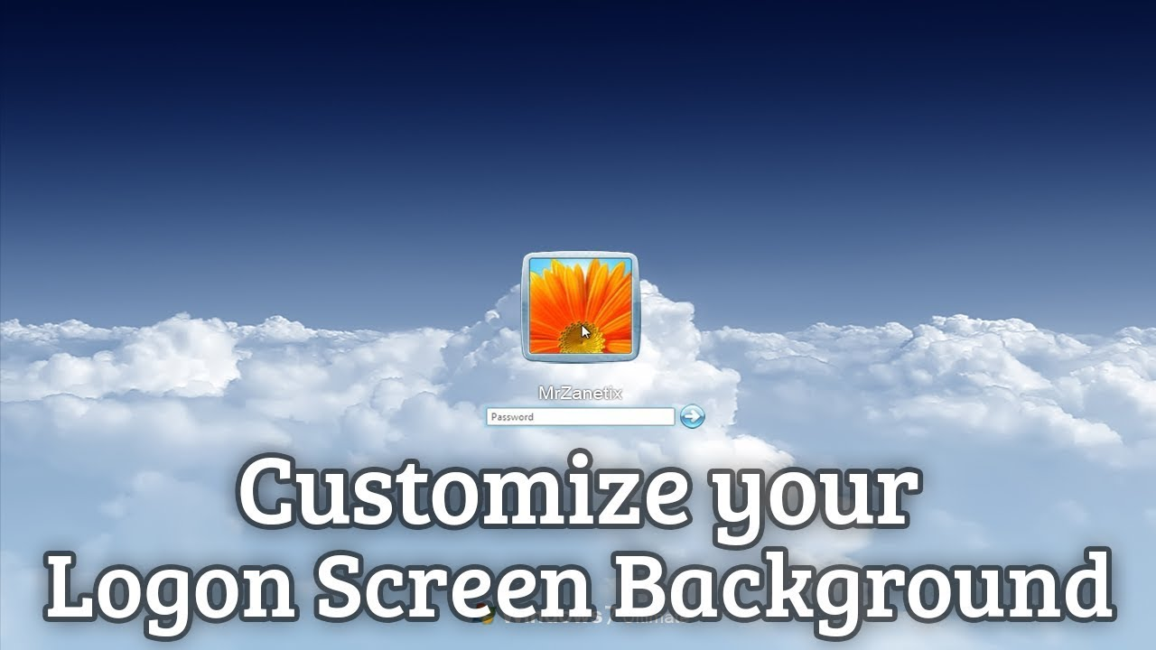 customize the login screen